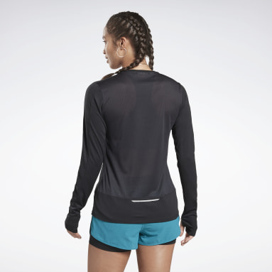Women Trail Running Black Running Essentials Tee