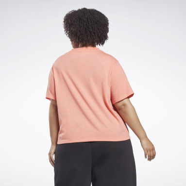 Women Fitness & Training Reebok Identity Cropped T-Shirt (Plus Size)