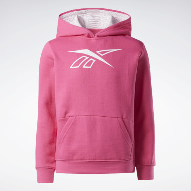 Hoodie Reebok Outline Rose Filles Fitness & Training