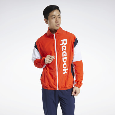 Men Fitness & Training Red Training Essentials Linear Logo Jacket