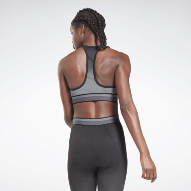Women Gym & Training Black United By Fitness Seamless Crop Long-Sleeve Top