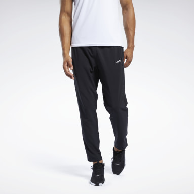 Men Hiking Black Workout Ready Track Pants