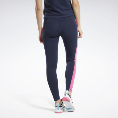 Leggings Training Essentials Linear Logo Blu Donna Fitness & Training
