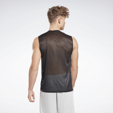Men Cycling Black Workout Ready Sleeveless Tech T-Shirt