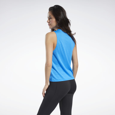 MESH TANK (REE)CYCLED Azul Mujer Fitness & Training