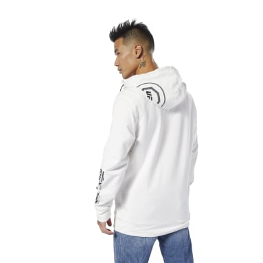 Men Fitness & Training White UFC Fight Night Blank Walkout Hoodie
