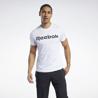 Men CrossFit White Graphic Series Linear Logo Tee