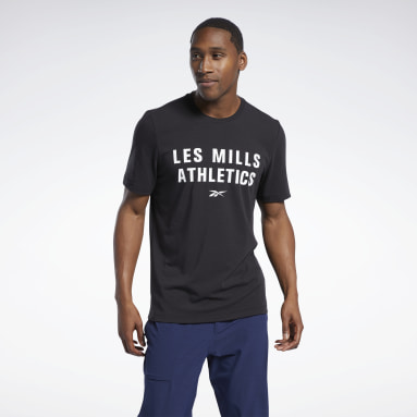 Herr Studio Svart Les Mills® Cotton T-Shirt