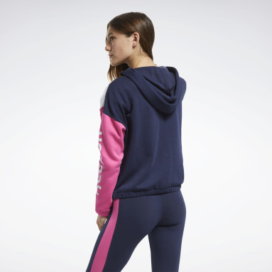 Women Fitness & Training Blue Training Essentials Logo Hoodie