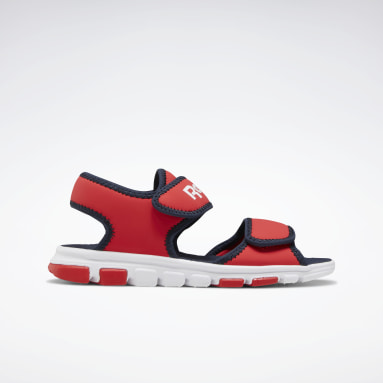 Boys Running Red Wave Glider III Sandals