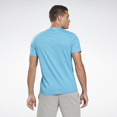 Men Fitness & Training Turquoise Vector Graphic T-Shirt