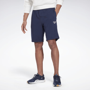 Men Fitness & Training Blue Reebok Identity Shorts
