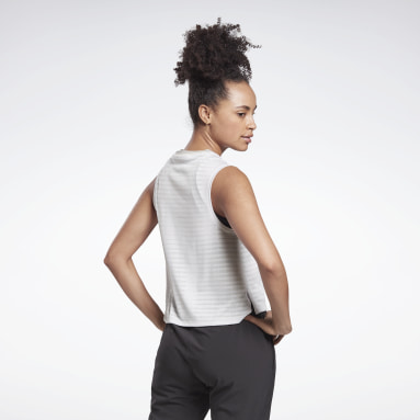 Women Running White Run Jacquard Tank Top