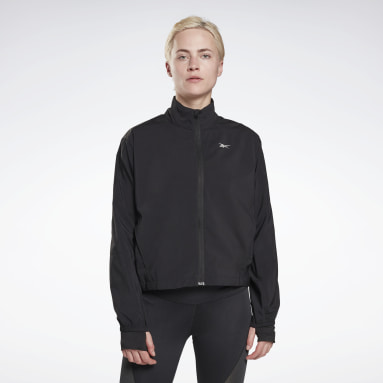 RE WIND JACKET Negro Mujer Running