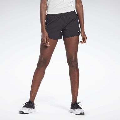 Women Cycling Black LES MILLS® 4-Inch Epic Shorts