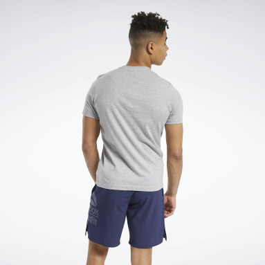 Men Cross Training Grey Reebok CrossFit® Holiday Tee
