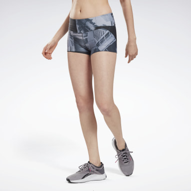 Women Cross Training Black Reebok Chase Bootie Shorts