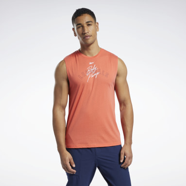 Men Pilates Red Les Mills® BodyPump® Tank Top