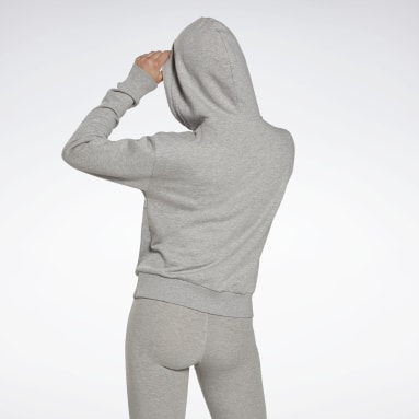 Polerón Reebok Identity Zip-Up Track Gris Mujer Fitness & Training