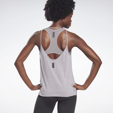Women Studio Grey LES MILLS® ACTIVCHILL+COTTON Tank Top