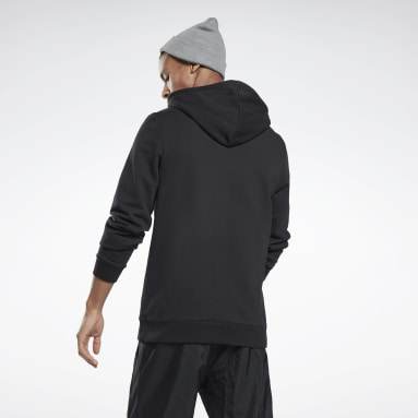 Men Fitness & Training Black Reebok Identity Hoodie