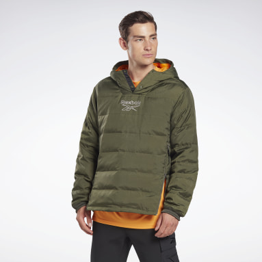 Kurtka Outerwear Light Down Retro Zielony