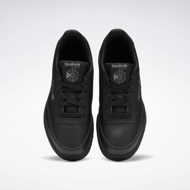 Kids Classics Black Club C Shoes - Grade School