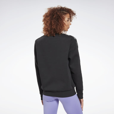 Women Fitness & Training Black Training Essentials Crew Sweatshirt