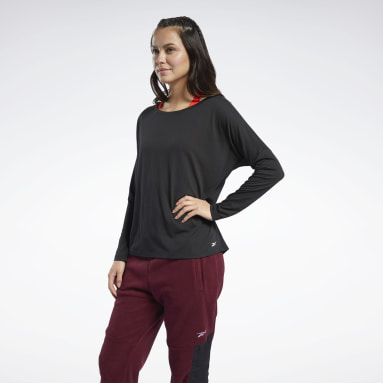 Women Hiking Black Workout Ready Supremium Long Sleeve Tee