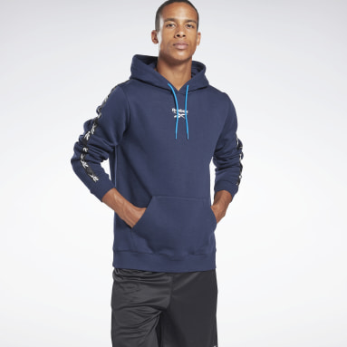 Männer Fitness & Training Training Essentials Tape Hoodie Blau