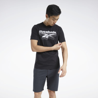 Männer Fitness & Training Graphic T-Shirt Schwarz