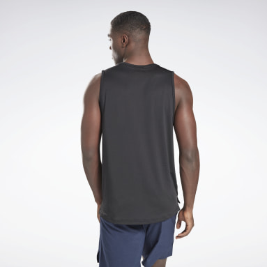 Men Fitness & Training Black Sweatshift Tank Top