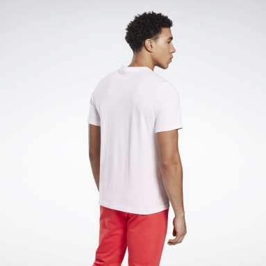 Polera Gráfica Stacked Blanco Hombre Running