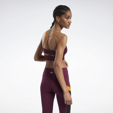Women Training Burgundy Workout Ready Low-Impact Tri Bra