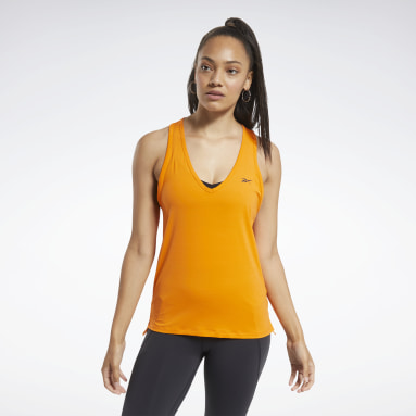Women Cycling Orange ACTIVCHILL Athletic Tank Top