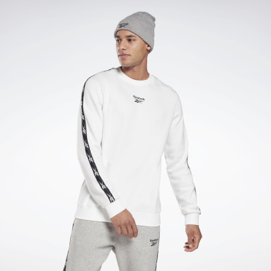 Sweat à col rond Training Essentials Tape Blanc Hommes Fitness & Training