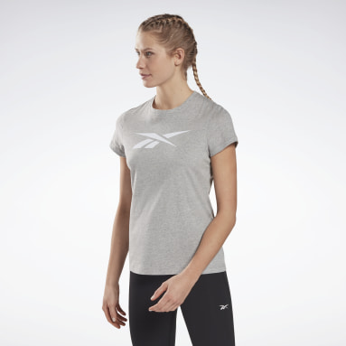 Women Fitness & Training Grey Training Essentials Vector Graphic T-Shirt