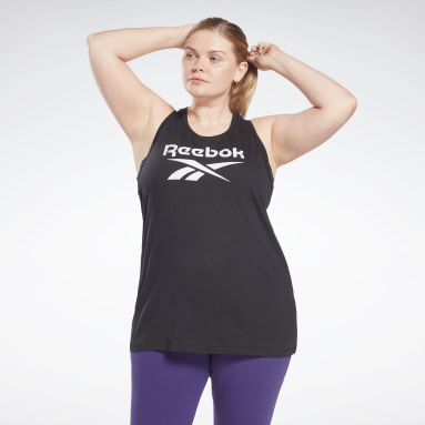 Women Studio Black Reebok Identity Tank Top (Plus Size)