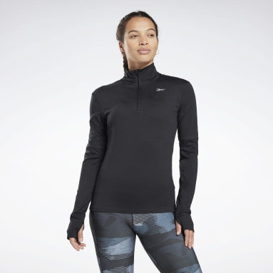 Frauen Trail Running Running Essentials Quarter-Zip Top Schwarz