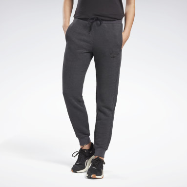 Kvinder Fitness & Training Black Textured Pants