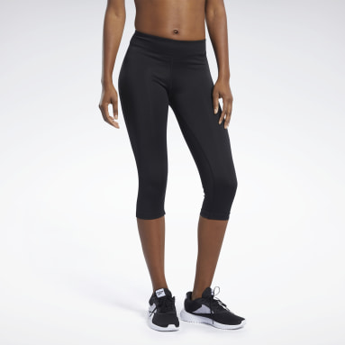 Women Training Black Workout Ready Capri Leggings