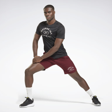 Mænd HIIT Sort Workout Ready Graphic T-Shirt