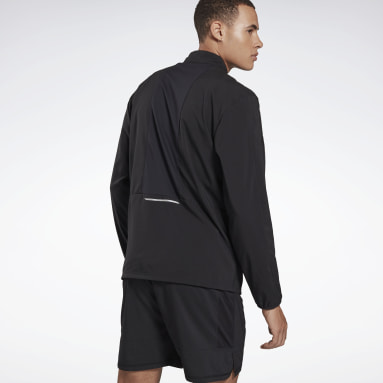 Men Running Black Running Essentials Wind Jacket