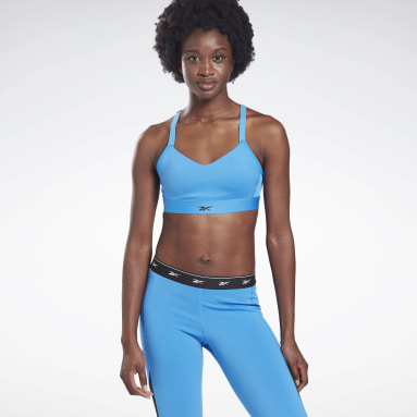 Bra Reebok Hero Medium-Impact Strappy Blu Donna Studio