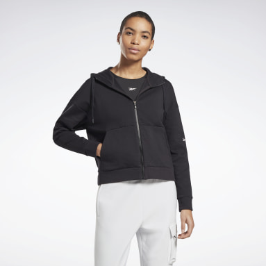 Women City Outdoor Black DreamBlend Cotton Zip-Up Hoodie