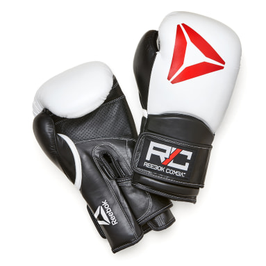 Combat Black Combat Gloves White
