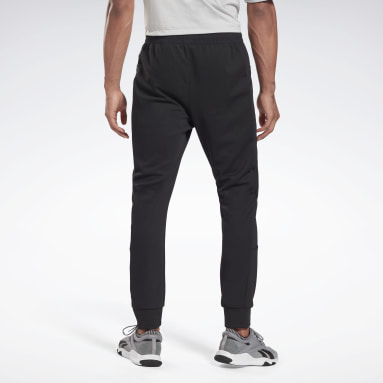 Men City Outdoor Black Knit-Woven Track Pants
