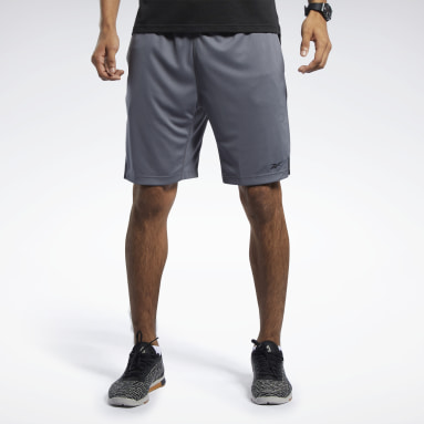 Men Fitness & Training Grey Workout Ready Shorts