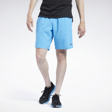 Men Training Blue Workout Ready Shorts