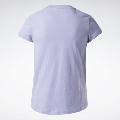 T-shirt Reebok Lock Up Blu Ragazza Fitness & Training
